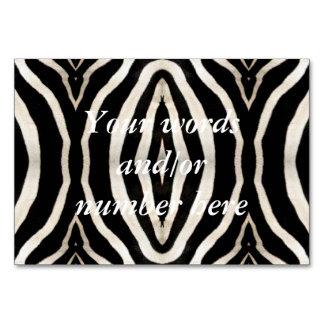 Cartão Fotografia da pele de uma zebra real