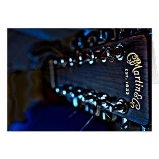 Cartão Fotografia de HDR da guitarra