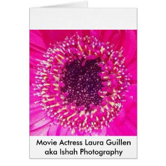 Cartão Fotografia de Laura Guillen aka Ishah da atriz do