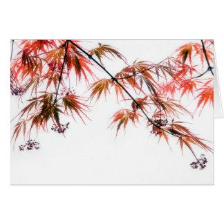 Cartão Fotografia japonesa L da arte do bordo vermelho