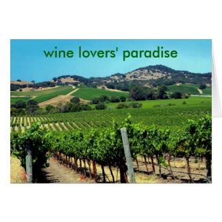 Cartão fotografia verde do vinhedo
