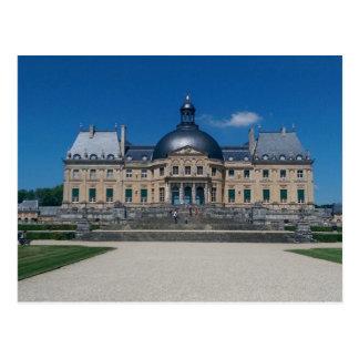Cartão francês do castelo