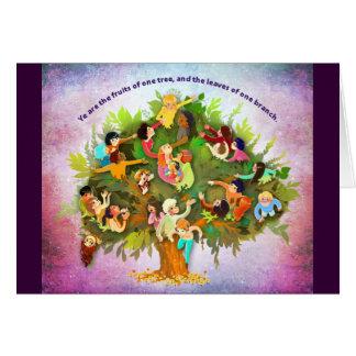 Cartão Frutas uma árvore