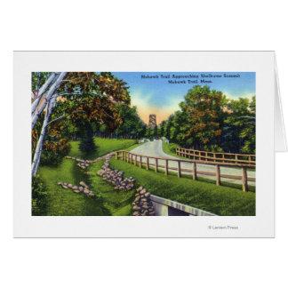 Cartão Fuga do Mohawk que aproxima a cimeira de Shelburne