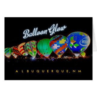 Cartão Fulgor do balão de ar quente - festival do
