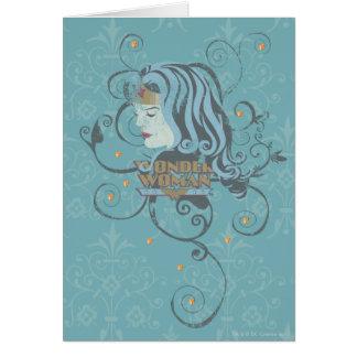 Cartão Fundo do azul da mulher maravilha