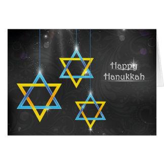 Cartão Fundo feliz de Hanukkah