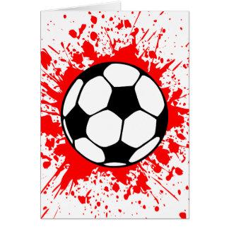 Cartão futebol splat.