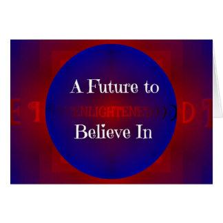 Cartão Futuro de Bernie azul branco vermelho 'para