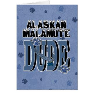 Cartão GAJO do Malamute do Alasca