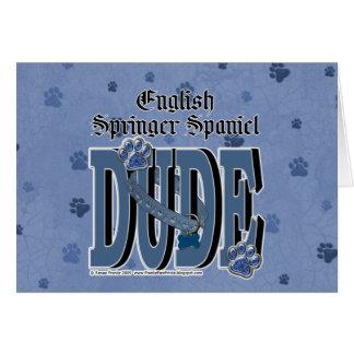 Cartão GAJO do Spaniel de Springer inglês