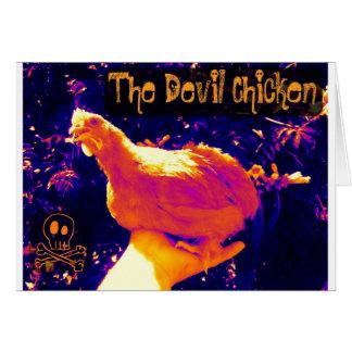 Cartão Galinha do diabo