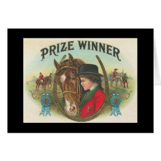 Cartão Ganhador do prémio Congrats em sua vitória
