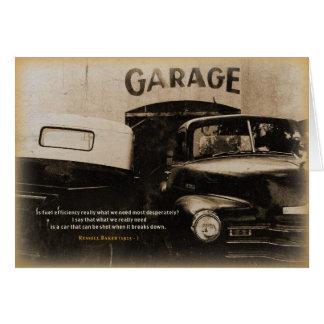Cartão Garagem velha