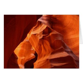 Cartão Garganta vermelha do arenito da rocha