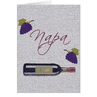 Cartão Garrafa de vinho do vintage de Napa