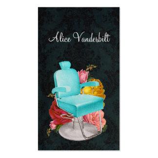 Cartão gasto do estilista da cadeira do salão de cartão de visita