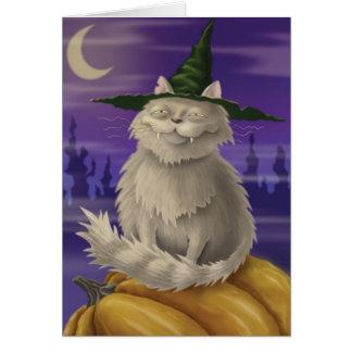 Cartão Gatinho do vampiro