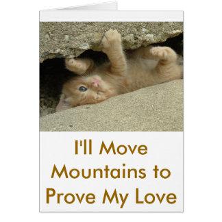 Cartão Gato do gatinho do super-herói