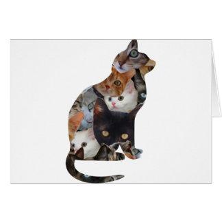 Cartão Gato do gato
