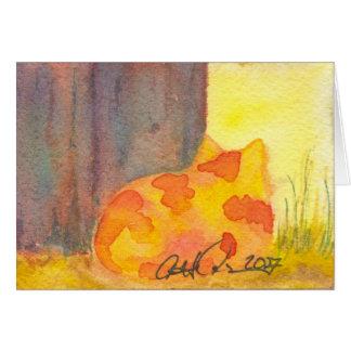 Cartão Gato Notecard de Momma
