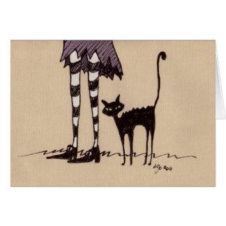 Cartão Gato preto