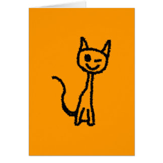 Cartão Gato preto, pisc