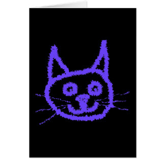 Cartão Gato roxo