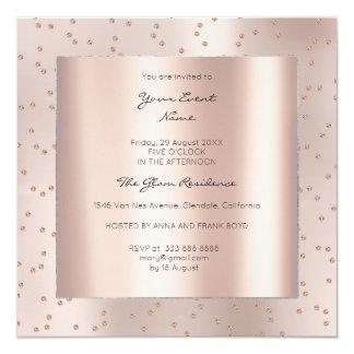Cartão Gemas metálicas de Swarovski do rosa do rosa do