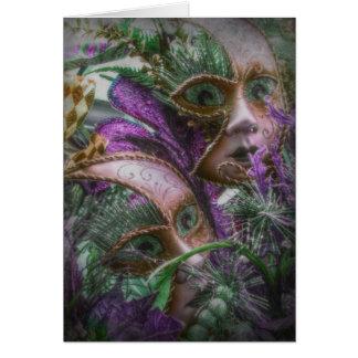 Cartão Gêmeos roxos