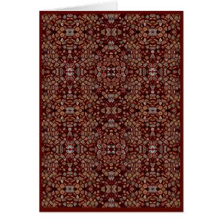 Cartão Generative da arte do mosaico de Brown,