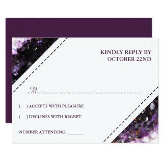 Cartão Geode Amethyst | RSVP Wedding violeta