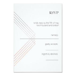 Cartão geométrico de RSVP Convite 8.89 X 12.7cm