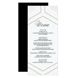 """Cartão geométrico do menu do casamento de diamante convite 10.16"""" x 23.49cm"""
