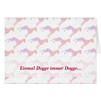 Cartão German: Dogge