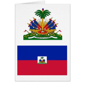 Cartão GH da bandeira de Haiti