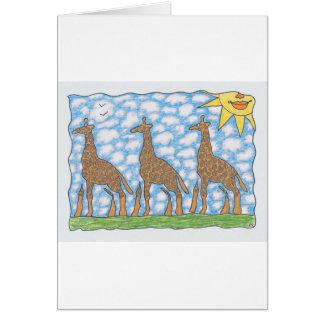 Cartão GIRAFAS de AFRIKA TRÊS por Ruth I. Rubin
