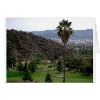 Cartão Glendale sobre a cordilheira de Verdugo
