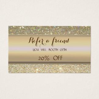 Cartão Glittery glamoroso elegante da referência