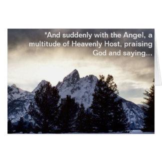 Cartão Glória ao deus no mais alto