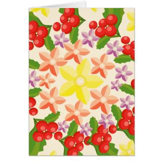 Cartão Glória da natureza: Teste padrão vermelho fino da