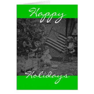 Cartão Glória velha do Natal patriótico do Victorian do