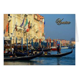 Cartão Gondoliers Venetian