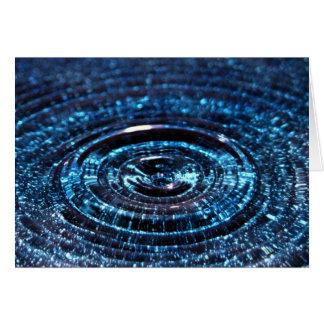 Cartão Gota da água azul