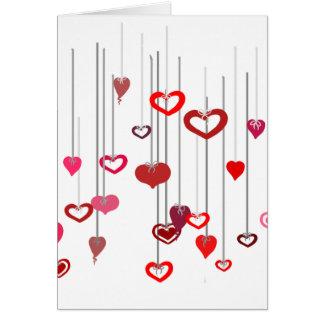 Cartão Gotas do coração