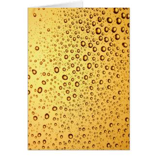 Cartão Gotas douradas
