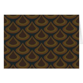 Cartão Gotas douradas do pavão de Nouveau