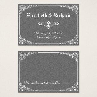 Cartão gótico cinzento do lugar do casamento tema