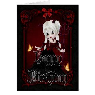 Cartão gótico do feliz aniversario do diabo 2