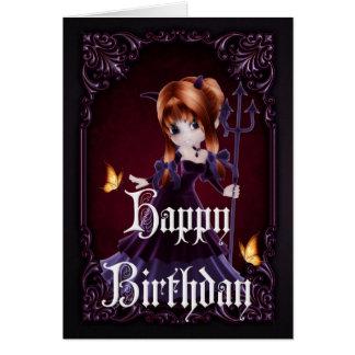 Cartão gótico do feliz aniversario do diabo 5